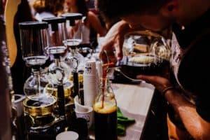 Kaffeeglaskolbenmaschine