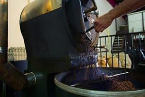Kaffeeröstung mit einem Trommelröster
